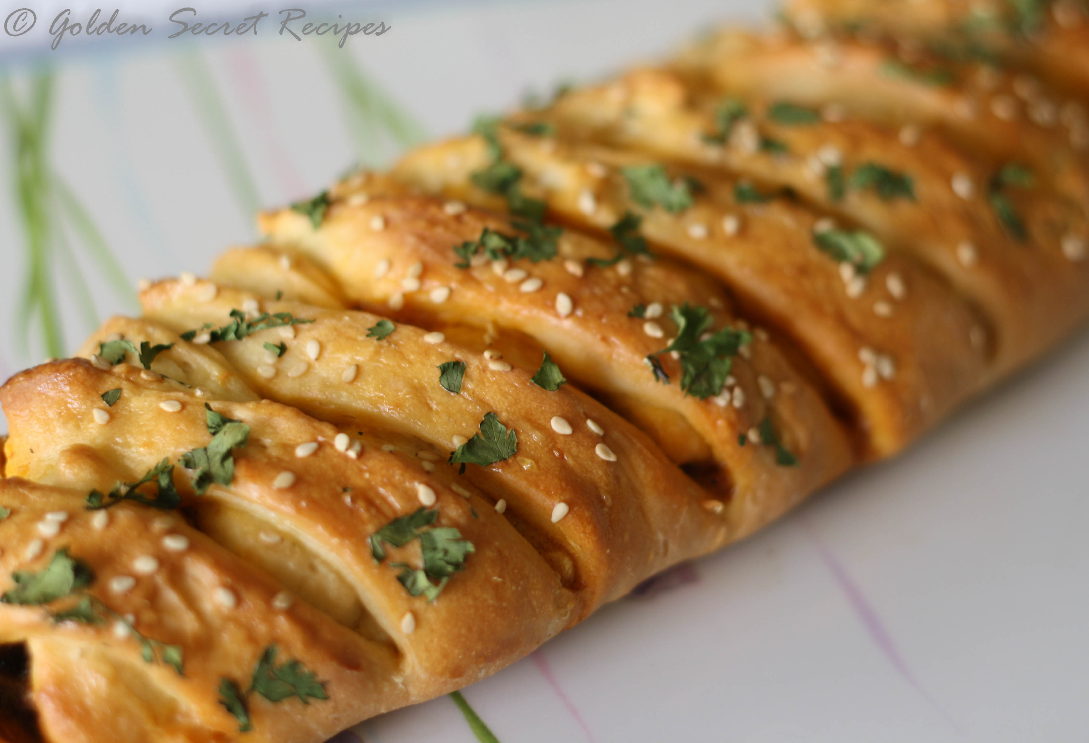 Stuffed Braided Bread | Golden Secret Recipes